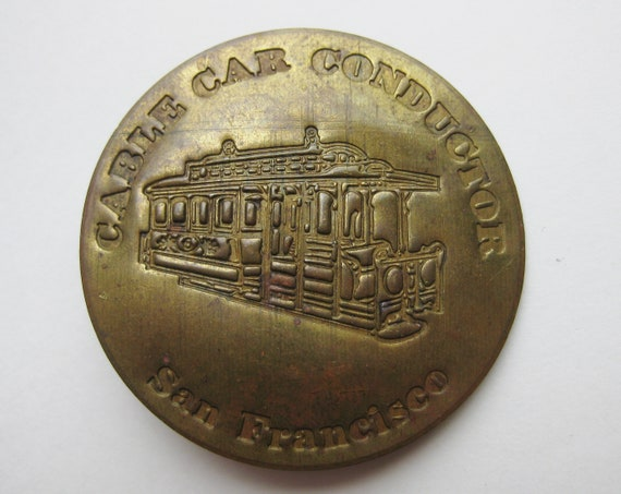 Vintage San Francisco Cable Car Conductor Novelty