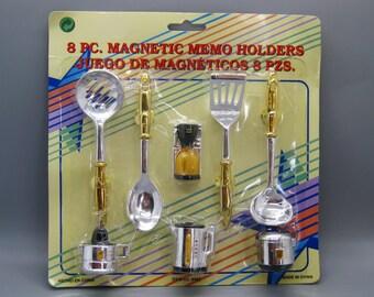 Vintage Kitchen Utencils Novelty Refrigerator Fridge Magnets Deadstock