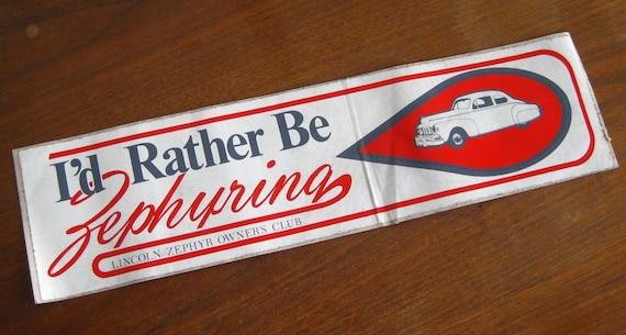 Vintage Lincoln Zephyr Owners Club Zephyring Advertising Etsy