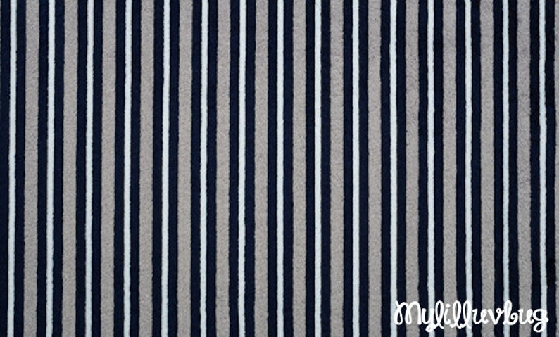 navy blue and graphite plain stripe minky fabric Minky fabric by the yard mini stripe cuddle one yard