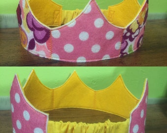 Polka Dots & Flowers crown