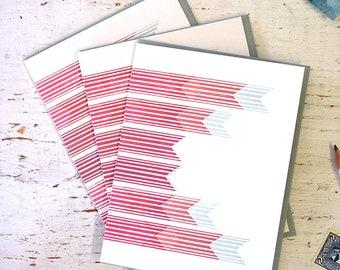 Abstract Arrows Letterpress Notecard