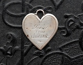 Trench Art Necklace Pendant. Rare Love Token from One Man to Another . Heart. Gay Interest.