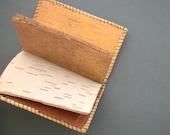 Antique Birch Bark Notebook. Canada 1929. Summer Camp.