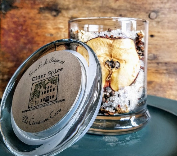Cider Spice Scented Sea Salt Jar Potpourri