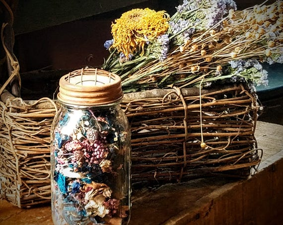 Country Prim Jar Potpourri  ~ Country Home