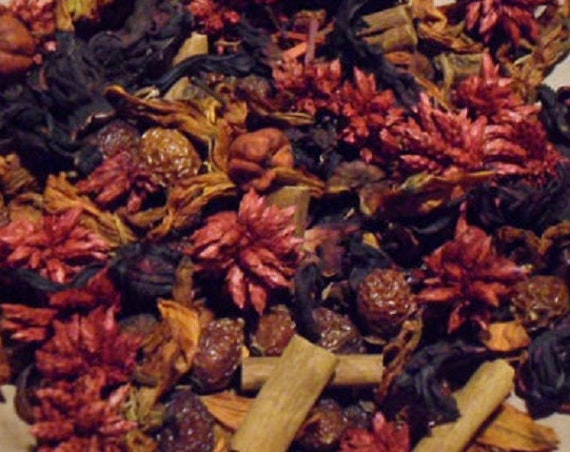 Red Hot Cinnamon rose hip potpourri  w/ refresher oil Primitive bowl fillers