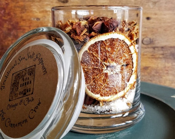 Orange & Clove  Scented Sea Salt Jar Potpourri