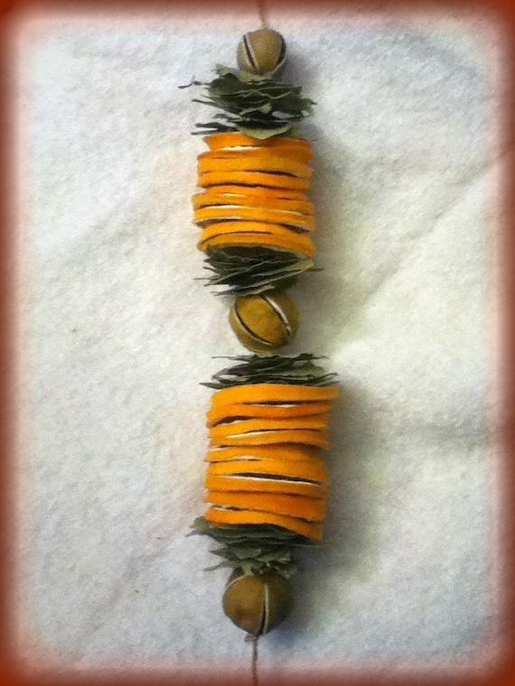 Orange and bay leaf swag