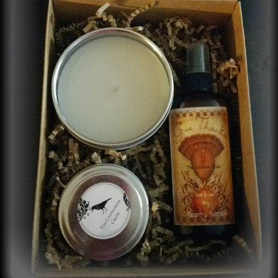 Give Thanks Gift Box ~ Candle, Rooms spray, Simmering Spices