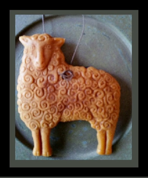 Bees wax ornament ~ Sheep