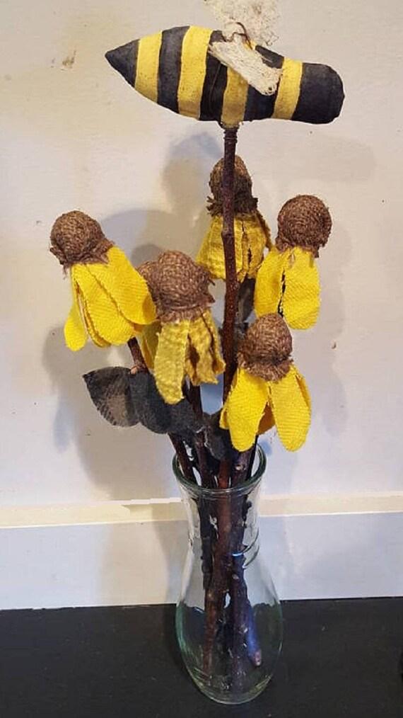 primitive black eyed susan bouquet