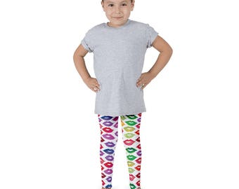 Rainbow Lipstick Kid's leggings
