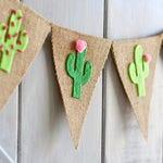 Cactus Banner - Cactus Decor - Cactus Party - Felt Cactus Garland - Cactus Baby Shower - Summer Banner, Fiesta Party Decorations, Taco Party