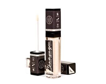 ON SALE - Champagne Lip Glitz - Mineral Lip Gloss - All Natural Lip Tint