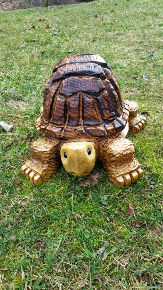 Chainsaw Carving Chainsaw Carved Medium Turtle