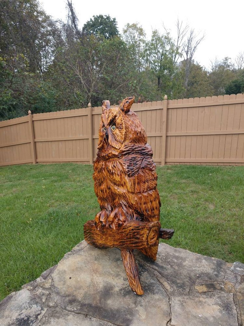 Chainsaw carving chainsaw carved owl etsy