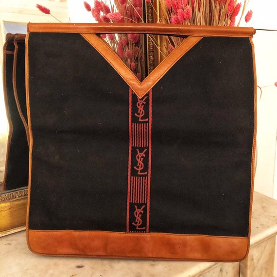 Bag totebag cabas vintage Yves Saint Laurent YSL -