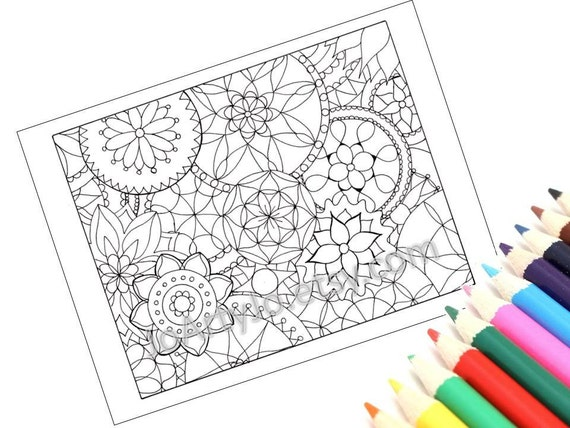 Mandalas Coloring Page, Kids Arts and Crafts, Printable- Page 2