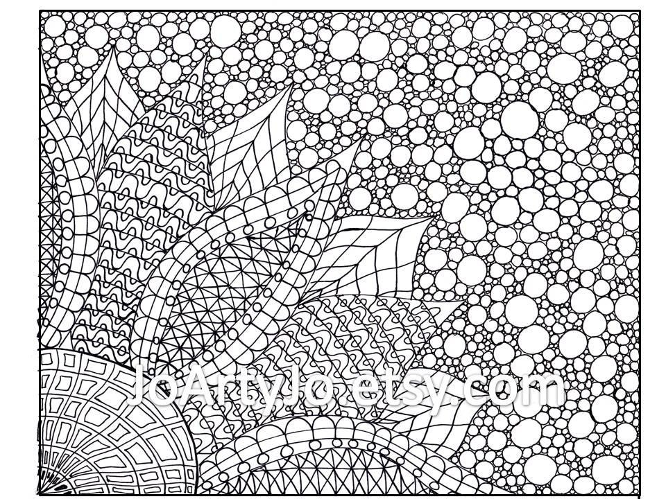 Coloring Page Zentangle Inspired Flower Printable Page 2