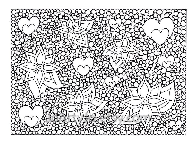 Mindfulness Coloring Page PDF Page 69 Printable Instant | Etsy