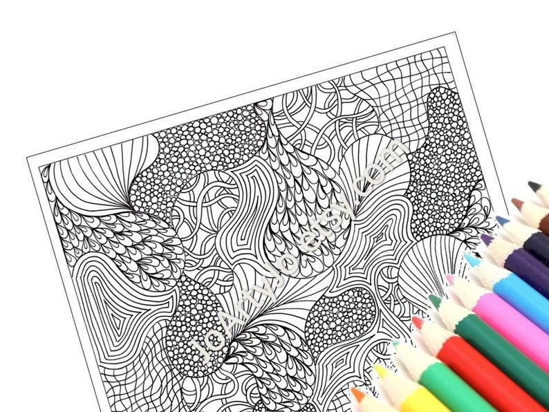 Coloring Page Printable PDF Very Intricate Zentangle | Etsy
