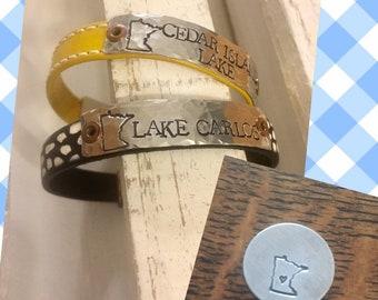 d5770d4f71cd8 MN Lakes-lake girl -lake name- mn jewelry-personalized bracelet