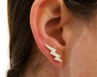 FAUX ECARTEUR BOUCLE D/'OREILLE PIERCING CORNE ETHNIQUE GAUGE HORN BONE EARRING