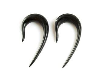 "Hook Gauge Earrings Horn Gauges Expanders 16g 14g 12g 10g 8g 6g 4g 2g 0g 00g 1/2"" - GA001 H"