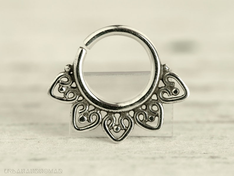 Septum Ring Piercing Nose Ring Body Jewelry Sterling Silver image 0