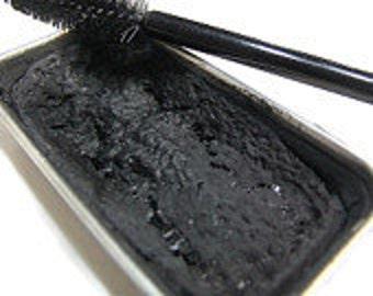 Black Creamy Cake Mascara - Cake Mascara - Zero Waste Vegan Mascara - Cake Eyeliner -  Cake Mascara -Paraben Free - Cat Eyes