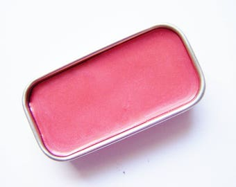 True Coral Mineral Lip Color - Lipstick In A Tin - Vegan Mineral Makeup -  Cruelty Free Cosmetics