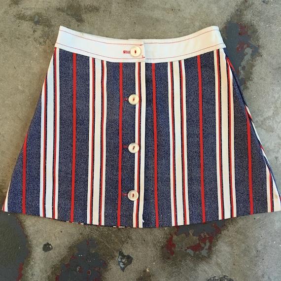 60s/70s High School Mini Skirt