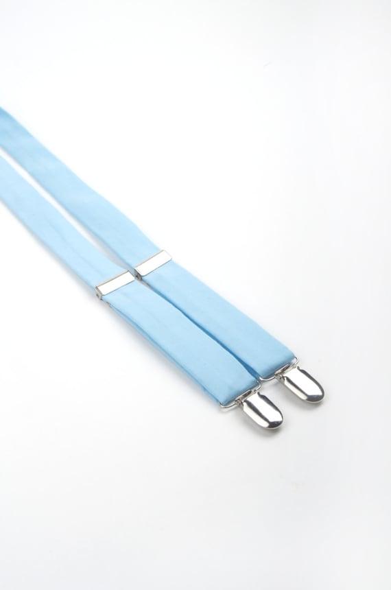 Baby Blue Suspenders Light Blue Suspenders Boys Suspenders Etsy