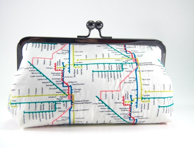 Chicago El Map Clutch, chicago purse, El map clutch, El train map clutch,  Chicago clutch, El map, Chicago Map, chicago subway map, Chicago