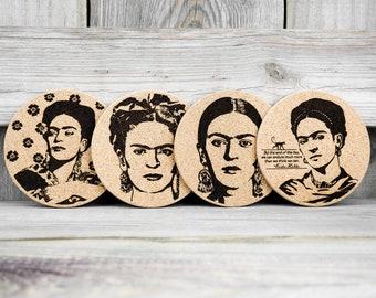Cork Coasters - Frida Kahlo - Set of 4
