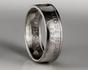 Rhode Island Quarter - Coin Ring - SILVER (.900)