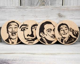 Cork Coasters - Salvador Dali - Set of 4