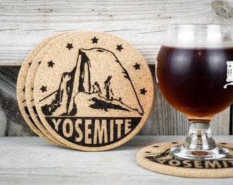Cork Coasters - Yosemite National Park - Set of 4