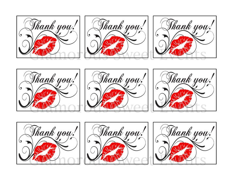 picture about Printable Thank You Labels named Prompt Obtain, Printable Thank On your own Label, Printable Thank By yourself Tag, Glamorous Lovable Situations