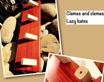 Clemes and Clemes Lazy Kate 3 or 4 ply maple,walnut  or padauk In Stock  : Saorisantacruz