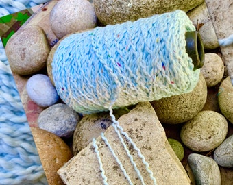 Thicker  weight cotton incredibly soft textured yarn on cones \u201clilac or purple   machine washable