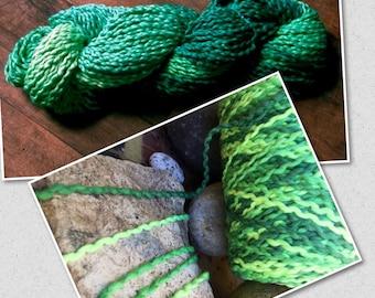 "Thicker weight cotton soft textured yarn space dyed on cones ""shamrock green ""machine washable  : Saorisantacruz"
