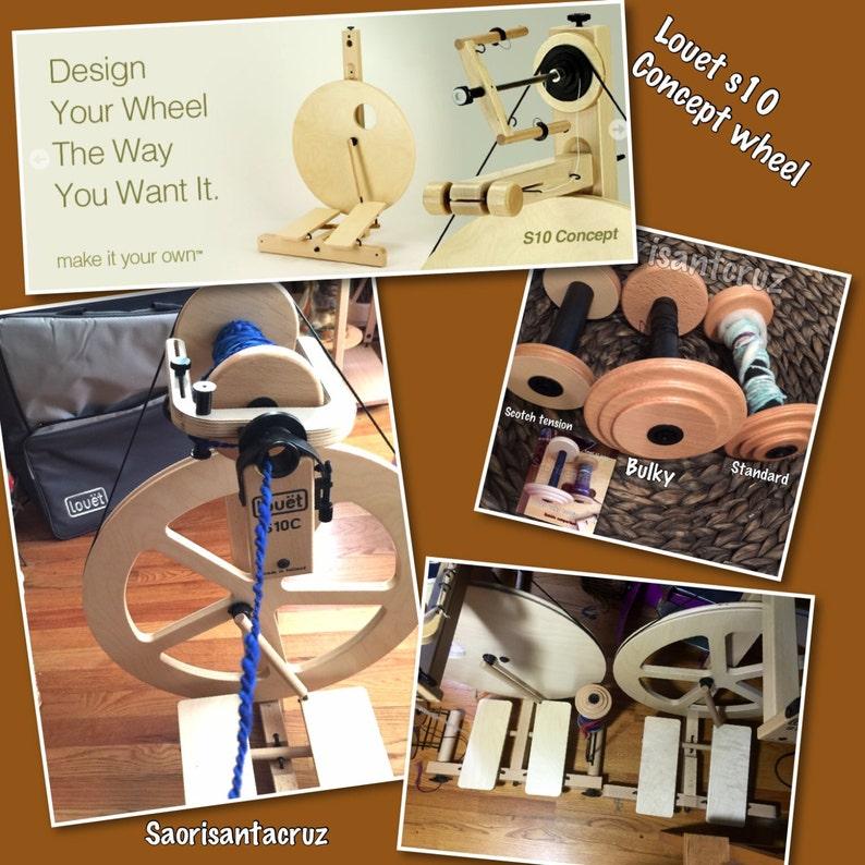 saorisantacruz Louet S10C double treadle bobbin lead irish tension spinning wheel  DT Irish tension wheel mother of all  base only