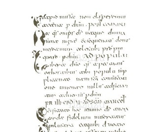 Medieval handwriting | Etsy