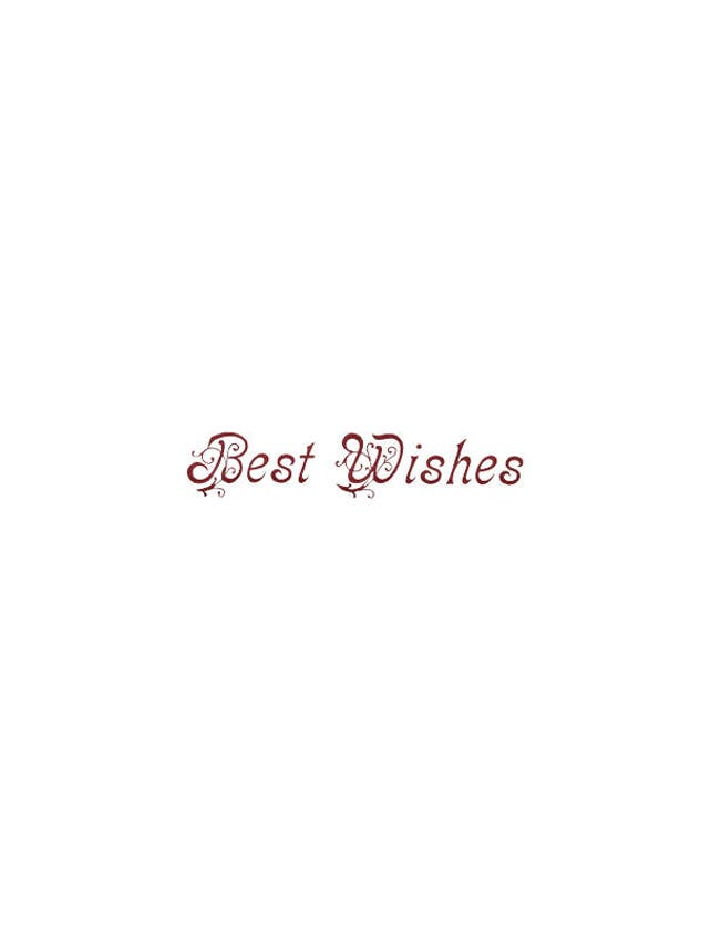 Words Best Wishes Text card making PNG ephemera transparent | Etsy