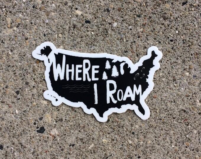 US Sticker, USA Decal, Travel US Sticker, Laptop sticker, Car Decal, Explore America