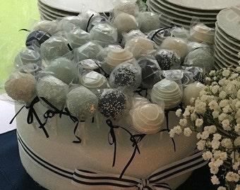 Baptism: Baptism Cake Pops Made to Order with High Quality Ingredients, Dessert Table, 3 dozen Cake Pops
