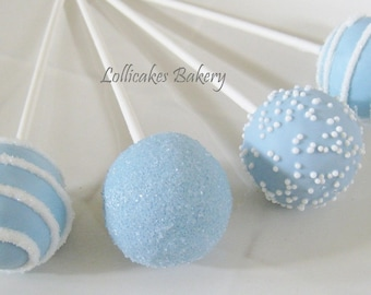 Boy Baby Shower Favors: Baby Shower Cake Pops Made to Order with High Quality Ingredients, 1 Dozen Cake Pops