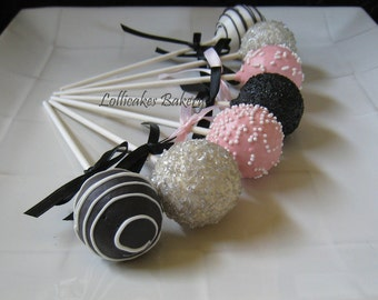 Cake Pops: Birthday Cake Pops Made to Order with High Quality Ingredients, 1 dozen cake pops